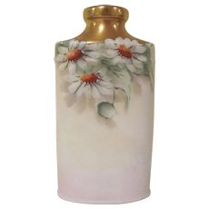 Made in Bavaria Hand Painted China Talc Bottle with Daisies