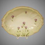 Rosenthal 1891-1906 Thistle Design Serving Bowl on Carmen Shape