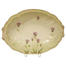 Rosenthal 1891-1906 Thistle Design Serving Bowl on Carmen Shape
