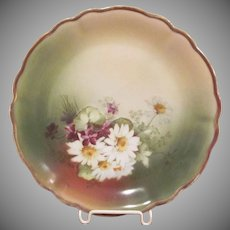 Made in Bavaria Porcelain Plate with Daisies
