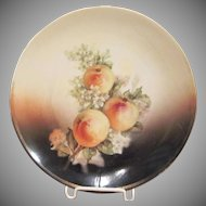 Three Crown China Germany Pottery Apple Plate