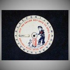 Sheet Metal Cracker Jack 'Fortune Teller' Premium 1930s