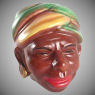 Brayton Laguna California Pottery Blackamoor Head Vase