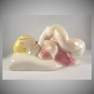 California Pottery Dalson Ware Baby with Bottle Figure