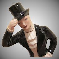 California Pottery A Man in a Tuxedo Bowing 1949 Figurine