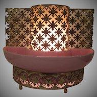 Sierra Columbia California Mid Century Modern TV Planter Lamp