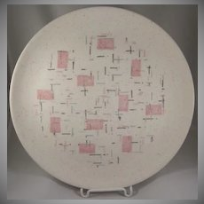 Vernon Kilns, Metlox 'Tickled Pink' Dinner Plate Have 5 MCM
