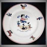 'Jack Be Nimble' Shenango China Child's Plate