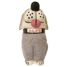 McCoy Pottery Alpo Dog Treats Jar Dan the Dog Old English Sheep Dog