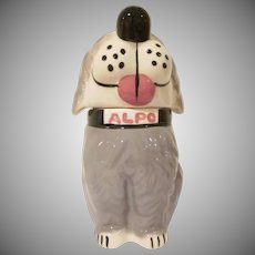 McCoy Pottery Alpo Dog Treats Jar Dan the Dog Old English Sheep Dog