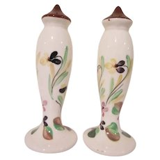 Blue Ridge Southern Potteries Salt and Pepper Shakers Dogtooth Violet Pattern