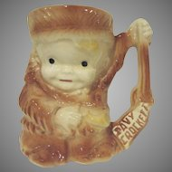Vintage Brush McCoy Young Davy Crockett Figural Stoneware Mug