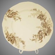 "Vintage Johnson Bros. Paris Transferware 9"" Luncheon Plate in  Brown"