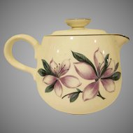 Vintage Homer Laughlin Pottery Rhythm Shape Purple Flowers Tea Pot