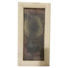 Vintage Wooden Framed Dollhouse Mirror Accessory