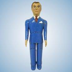 "Renwal 3/4"" No. 44 Father Hard Plastic Dollhouse Doll"