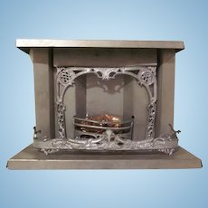 "Early Tin and Soft Metal 1"" Fireplace Dollhouse Furniture"