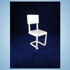 "Ideal Young Decorator 1-1/2"" White Kitchen Chair Dollhouse Furniture Have 3"