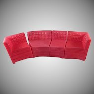 "Ideal Young Decorator 1-1/2"" 4 Piece Sectional Sofa Dollhouse Furniture"