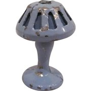 """Tootsie Toy 1/2"""" Table Lamp in Blue Dollhouse Accessory"""