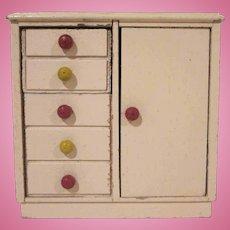 """Strombecker 1"""" Child's Room Pink Wardrobe Dollhouse Furniture"""