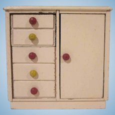 "Strombecker 1"" Child's Room Pink Wardrobe Dollhouse Furniture"