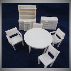 "Superior 1/2"" 7 Piece Dining Room Dollhouse Furniture"