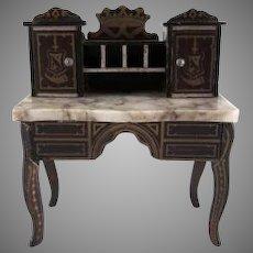 "Biedermeir 1"" Marble Top Desk Dollhouse Furniture"