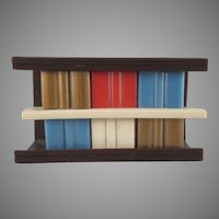 "Ardee 3/4"" Plastic Bookcase Dollhouse Furniture"