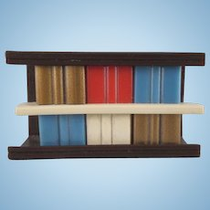 "Ardee 3/4"" Plastic Bookcase Dollhouse Furniture"