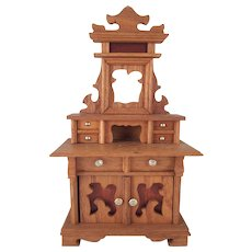 "Schneegas 1"" Golden Oak Sideboard Dollhouse Furniture"