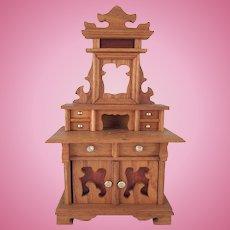 "Schneegas 1"" Golden Oak Sideboard Dollhouse Furniture"