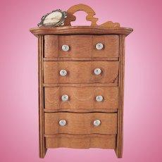 "Schneegas 1"" Golden Oak Highboy Dollhouse Furniture"