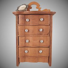 "Schneegas 1"" Golden Oak Highboy Dollhouse Furniture"