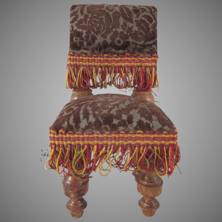 Super Large Scale Parlor Chair With Sculpted Velvet Seat And Back Dollhouse Furniture Theyellowbook Wood Chair Design Ideas Theyellowbookinfo