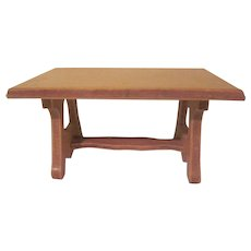 """Wanner, Grand Rapids 1-1/2"""" Dining Room Trestle Table Dollhouse Furniture"""