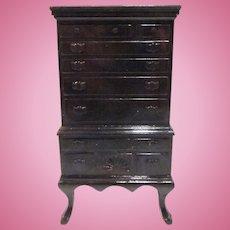 """Ideal 3/4"""" Highboy Dollhouse Furniture"""