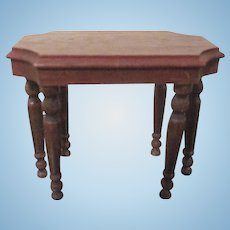 "Strombecker 1"" 1936 Turtle Back Sofa Table Dollhouse Furniture"