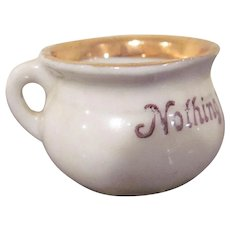 Made in Germany Ceramic Potty Dollhouse Accessory Nothing to Good For Me