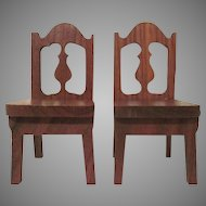 "Strombecker 1"" 1936 Pair of Dining Room  Chairs Dollhouse Furniture"