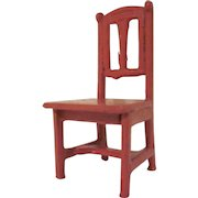 """Gottschalk 1"""" Scale Kitchen or Bedroom Chair Dollhouse Furniture"""