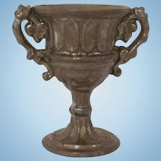 Gilt Covered Soft Metal Loving Cup Dollhouse Accessory