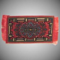 Tobacco Freebie Felt Flannel Dollhouse Rug Accessory #4