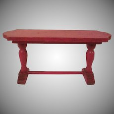 "Strombecker 1"" 1931 Red Library Table Dollhouse Furniture"