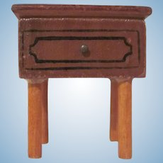 "Kage 3/4"" Night Stand Straight Legs Dollhouse Furniture"