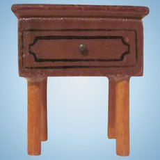 """Kage 3/4"""" Night Stand Straight Legs Dollhouse Furniture"""