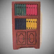 "Kage 3/4"" Bookcase Dollhouse Furniture"