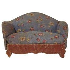 "Kage 3/4"" Sofa 1930s Print Dollhouse Furniture"