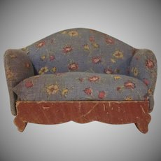 "Kage 3/4"" Sofa 1930s Print Dollhouse Furniture"