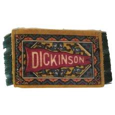 Dickinson Pennant Felt Tobacco Freebie Dollhouse Rug